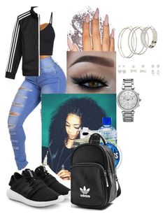 """""""ADIDAS"""" by crrminter ❤ liked on Polyvore featuring adidas Originals, Belkin, adidas, Michael Kors and Charlotte Russe"""