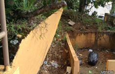 Atienden situación de muro a punto de colapsar en escuela de Barranquitas