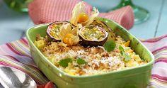 Ananaspaj med kokos och smuldeg recept