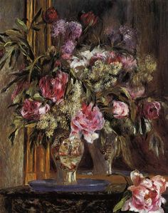 Vase of Flowers (1871) by Pierre-Auguste Renoir (1841-1919)