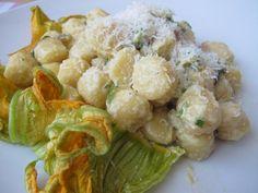 Gnocchi zucchine pancetta
