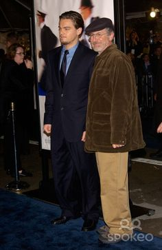 Actor LEONARDO DiCAPRIO (left) & director STEVEN SPIELBERG at the Los Angeles premiere of their new movie Catch Me If You Can. 16DEC2002. Paul Smith/Featureflash