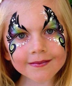 Leanne Kelly || butterfly face painting ideas for kids
