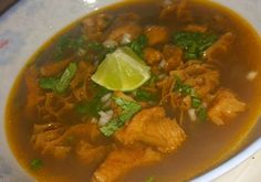 I love menudo but I dont care for pigs feet so I have used the following recipe for quite a few years.   Easiest method is to use a package of Menudo Mix which can be found in the hispanic aisle of most grocery stores.  In case you rather use the individual spices, I am including those starting with oregano.  This recipe can also be cooked on the stove top by simmering on low for 5-6 hours.