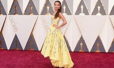 BOOM. The actual Fashion has started. No word from Vikander's people yet, but surely given her recent red carpet form this has to be by Louis Vuitton? Important things to note: it's yellow, appears to have some sort of fancy embellishment on it and it's a mullet hem.