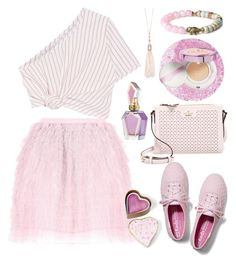 """""""Pink!!!"""" by suncokret-12 ❤ liked on Polyvore featuring RED Valentino, Rosie Assoulin, Kate Spade, Oasis, Keds, Boohoo and L'Oréal Paris"""