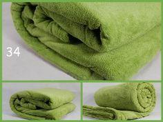 Teplá luxusná deka z mikrovlákna zelenej farby