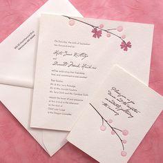 Blossom set - pink by EdenInvitations, via Flickr