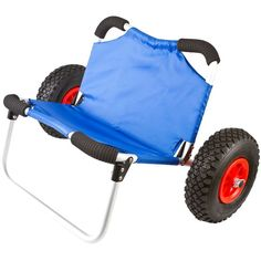 Easily transport a kayak with a dolly cart from a vehicle to the recreation area without hassle. The KC-Dolly-Seat Kayak Cart straps to the underside of a kayak or canoe for transport. When not in use, the kayak cart works as a comfortable seat to relax and enjoy the water from shore.