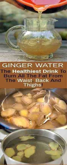 Ginger Water: The Healthiest Drink To Burn All The Fat From The Waist, Back And Thighs – Detox Drinks Fat Burning Healthy Drinks, Healthy Tips, Diet Drinks, Healthy Recipes, Healthy Beauty, Healthiest Drinks, Healthy Facts, Healthy Options, Stay Healthy