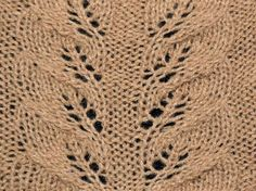 Autumn Leaves lace knitting stitch - KnitHit.com