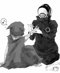 Eto and Noro | I want to see Noro without the mask... NOW! Please... ╭(⇀‸↼)╮