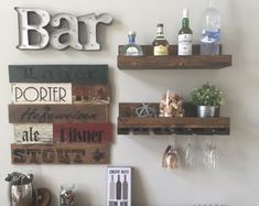 wall mounted wine rack – Etsy PT