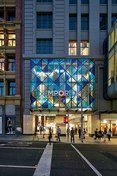 Emporium Melbourne///An external facade faces Lonsdale Street.