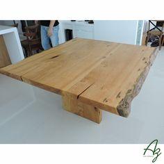 Mesa de jantar em madeira maciça, fabricadas artesanalmente sob pedido. Consulte-nos! Az arte natural - Móveis em madeira feitos a mão.