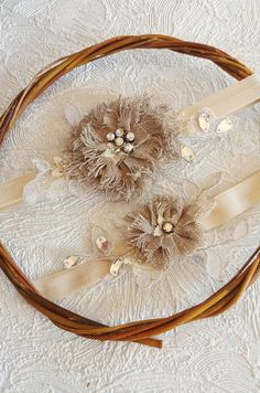 French wedding garter set Blush garter Rose gold wedding
