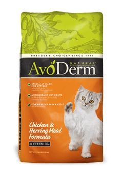 Avoderm premium, dry natural kitten food with chicken & herring meal. DHA enriched to meet the special needs of your growing kitten.