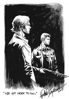 Sam & Dean Winchester - Supernatural - Elena Casagrande