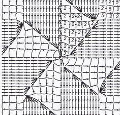 9 асимметричных узоров на квадратах из филейной сетки - Вязание - Моя копилочка