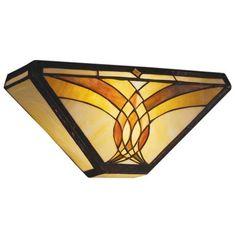 "Art Glass Joined Curves 15"" Wide Sconce | LampsPlus.com"