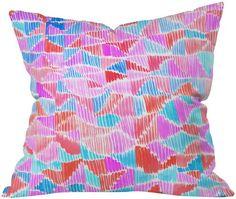 DENY Designs Amy Sia Scribbles Throw Pillow - Beachfront Decor