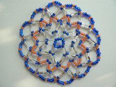 Women+beaded+Kippah+with+shades+of+Blue+and+Orange+by+IrmasKippah