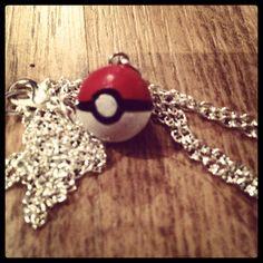 DIY Pokémon polymer clay necklace