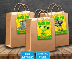 Bubble Guppies thank you tags for celebration birthday party. The file is formatted to pages in size Bubble Guppies thank you tags size x You will receive 8 different designs of tags (with different characters) !We strongly advise all clients read our Zombie Birthday Parties, Zombie Party, Plants Vs Zombies, Sons Birthday, Baby Birthday, Birthday Ideas, Thank You Tags, Thank You Gifts, Plantas Versus Zombies
