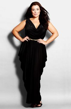 City Chic 'Athena Goddess' Belted Maxi Dress (Plus Size) available at #Nordstrom