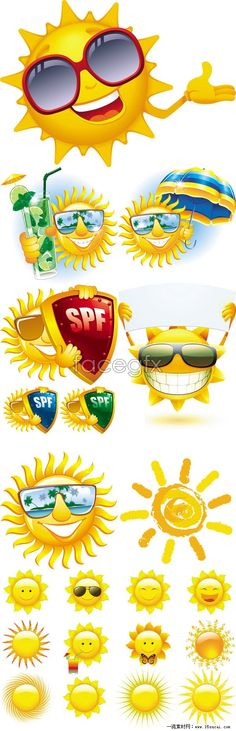 Cartoon Sun Design Vector Material Beach Theme Sunshine images ideas from All About Beach Sun Painting, Summer Painting, Cartoon Sun, Cartoon Images, Summer Party Centerpieces, Beach Clipart, Sun Designs, Beach Kids, Frame Crafts