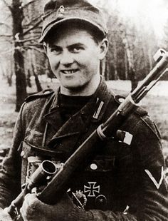 Matthäus Hetzenauer,german sniper with 345 confirmed kills, 1944