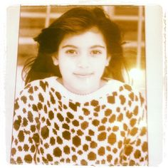 Kim Kardashian childhood photo http://celebrity-childhood-photos.tumblr.com/
