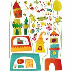 Stickers Walter : Lilliputiens - Stickers château et chevaliers - Berceau Magique