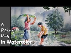 I miss the old days in the province, when rain was a cause for celebration for children. So strange that modernity, expanding knowledge and cutting edge technology would make rains in a metropolis more a danger than a blessing. Watercolor Art Lessons, Watercolor Art Paintings, Watercolour, Miss The Old Days, Theory Of Love, Painting Videos, Framed Art Prints, Flower Art, Scene