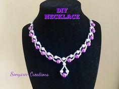 Elegant Wedding Necklace ....Super Easy Tutorial - YouTube