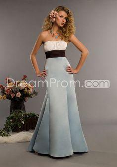 Charming Sashes/Ribbons A-Line Trumprt/Mermaid Strapless Bridesmaid Dress