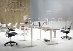 Humanscale Float and monitor arms, Milan Furniture Fair 2013, Italy