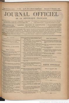 Journal officiel de la République française. Lois et décrets | 1890-12-31 | Gallica