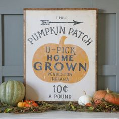 Perfect DIY fall project!  Tutorial shows how to transfer an image to wood AND has free customizable pumpkin patch printable!