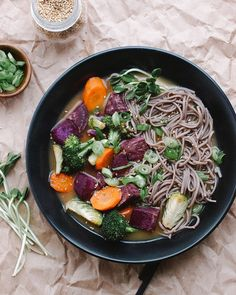 ROASTED VEGETABLE MISO SOUP + SOBA NOODLES