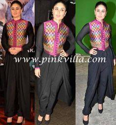 Black indo western dress