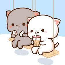 Cute Bear Drawings, Cute Animal Drawings Kawaii, Cute Cartoon Drawings, Cute Cartoon Images, Cute Love Cartoons, Cute Cartoon Wallpapers, Cute Anime Cat, Cute Cat Gif, Kawaii Anime