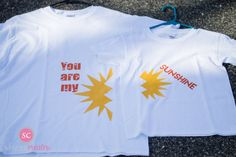 You Are My Sunshine Shirts, Mommy & Me Shirts, Mother's Day Shirts, Mother and Daughter Shirts by SheenaCreates on Etsy