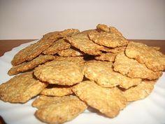 Gyémánt Konyha: Zabpelyhes sós keksz,az egészséges sós finomság