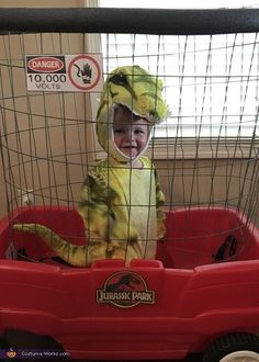 Baby T-Rex Costume - Halloween Costume Contest Halloween Costume Contest, Cute Halloween Costumes, Costume Ideas, Funny Baby Costumes, Baby Costumes For Boys, Dinosaur Costumes For Kids, Dinosaur Halloween Costume, Fete Halloween, Halloween Kostüm