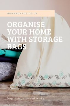 Getting organised can be fun! Personalise a range of bags to help organise your home in style