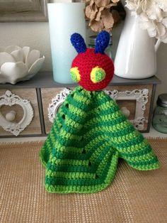 Hungry Caterpillar Crochet Lovey by NannysKnotsnClocks on Etsy