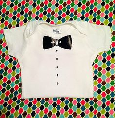 Bow Tie and Tuxedo Shirt Onesie  All Sizes by FrillsAndFlairGifts, $11.99