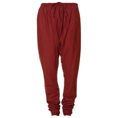 East Artisan Churidars Trousers, Red, L ($14) ❤ liked on Polyvore featuring pants, bottoms, jeans, sweatpants, trousers, red pants and red trousers