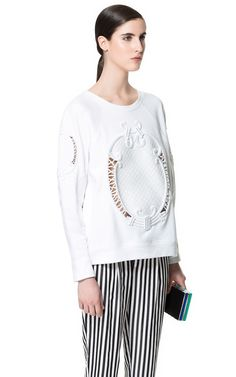 SWEAT RAPHIA - Sweat-shirts - Femme - ZARA France